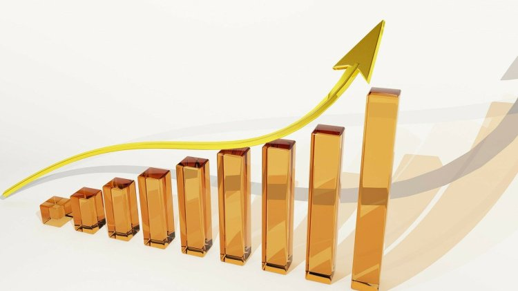 Gold bars representing growth and success